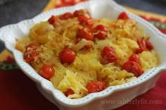 21 Day Fix Garlic Tomato Spaghetti Squash