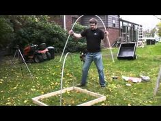 """DIY PVC Green House/ Cold frame It's a cold frame, it's not going into """"Architectural Digest"""" or anything, LOL!"""