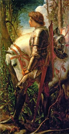 "George Frederic Watts (1817-1904),  ""Sir Galahad"""