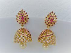 Gold Jewelry Design In India Code: 9221439732 Jhumka Designs, Gold Mangalsutra Designs, Gold Earrings Designs, Gold Jewellery Design, Gold Jewelry, Necklace Designs, Diamond Jhumkas, Gold Jhumka Earrings, Gold Diamond Earrings