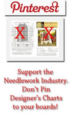 it's okay to pin a photo of the project but not the chart!  Support designers NOT design piracy!