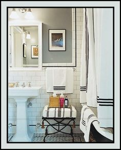 Fabulous Black and White Bathroom | Content in a Cottage