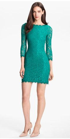 Diane von Furstenberg Lace Dress Spring 2014 (I own this in Black)