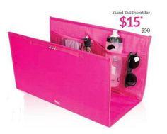 Get the Stand Tall Insert for your thirty-one large utility tote for only $15 with a $35 purchase in May, 2015!  www.mythirtyone.com/jilltackett