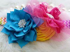 Rainbow Headband/Flower Girl Headband/Baby Headband/Infant Headband/Newborn Headband/Toddler Headband/Girls Headband/Girls Headband by OohLaLaDivasandDudes on Etsy