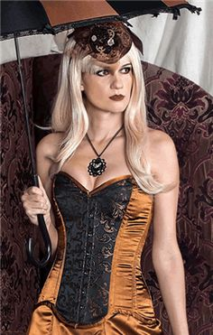 Hilary's Vanity Brown Swirl Goth Steampunk Corset #infectiousthreads #goth #gothic #corset #gothiccorset #steampunk #steampunkcorset