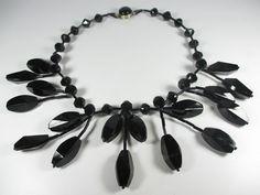 Langani Collier Vintage Halskette 70er Kette Boho necklace swagg L61 N4