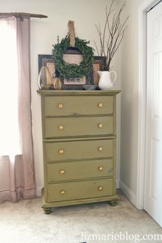 gorgeous green dresser
