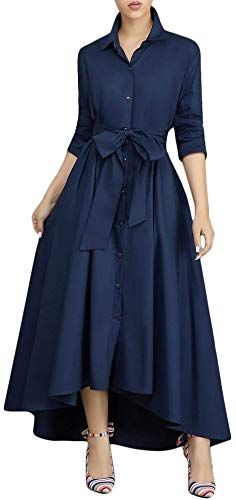 Enjoy Exclusive For Thusfar Women S Long Maxi Dress Bowknot Waist Lace Up T Shirt Dresses Pockets Online Showmetopstyle In 2020 Womens Long Maxi Dresses Long Sleeve Maxi Dress Dresses
