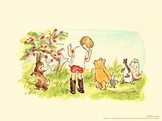 Christopher Robin, Winnie the Pooh and friends
