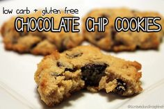 Watching your carbs and missing delicious cookies?  Try these low carb, gluten free keto chocolate chip cookies from ScrewedOnStraight.net!  #keto #atkins #diet #weightloss #glutenfree #cookies #ketosis