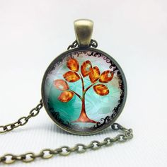 Retro Peace Tree Of Life Pendant Chain Necklace
