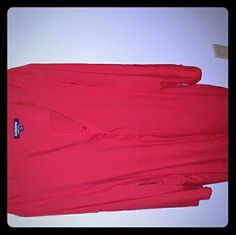 Bright Red Bigshirt from Roamans Bold colors mean bold statements. New w/o tags. Add to your wardrobe today.  Submit your best offer! Tallissime Tops Button Down Shirts