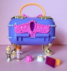150 Vintage 1997 Polly Pocket JEWEL CASE Playset SUPER RARE COMPLETE