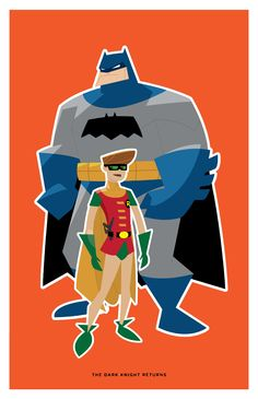 Vector practice of Von Toten Style. Pencil and Adobe Illustrator The Dark Knight Returns - Batman and Carrie I Am Batman, Batman Art, Batman Robin, Gotham Batman, Comic Movies, Comic Books Art, Comic Art, Book Art, Batgirl