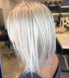 "241 Likes, 12 Comments - Kaitlin Jade - Hair & Harlow (@hairbykaitlinjade) on Instagram: ""Icy blonde with a textured lob ❤️ #blonde #hairenvy #lob #hairideas #hairinspiration #microfoils…"""