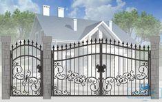 Front Gate Design, House Fence Design, Main Gate Design, Door Gate Design, Entrance Design, Modern Steel Gate Design, Gate Designs Modern, Metal Driveway Gates, Iron Garden Gates