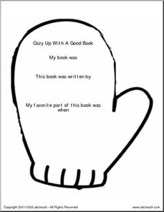 Cozy Up with a Good Book - [member-created document]  This shapebook can used for student book reviews.
