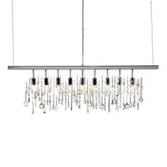 Z Gallerie - Holiday Entertaining - Linear Strand Crystal Chandelier