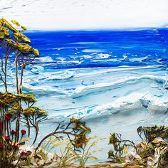 48x48 - Acrylic on Panel - Seascape Series- Artist, Justin Gaffrey