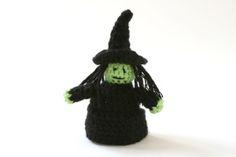 """Little Witch Finger Puppet - Free Amigurumi Pattern  - Click """"Instructions"""" here: http://www.lionbrand.com/patterns/80770AD.html?iP=1"""