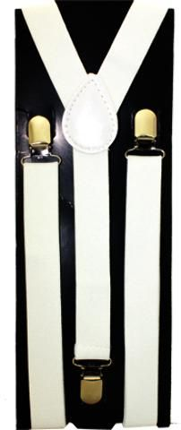 wholesale solid-white-kid-suspenders-(case-of-72) (Case of 72)