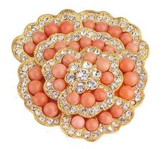Jacqueline Kennedy Coral Brooch