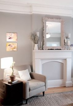 Faux Fireplace incase it doesnt come with one... maybe with a fireplace candelabra in front?