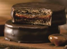 Chocolate-Hazelnut Ganache Alfajor