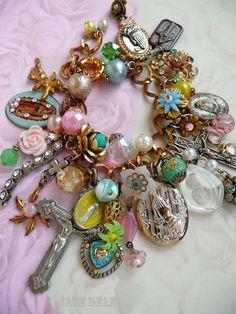 Catholic kitsch charm bracelet by ~janedean