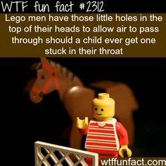 Why lego men have holes in their head - WTF fun facts. Lego thinks through everything..