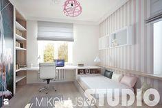 dziewczęcy pokój w delikatnych odcieniach różu - zdjęcie od MIKOŁAJSKAstudio