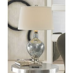 Mafalda Mercury Blue Glass Table Lamp - Overstock™ Shopping - Great Deals on Table Lamps