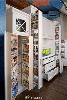 Functional storage cabinet