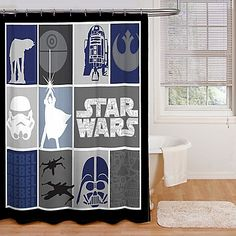 The Force is strong with this stylish Star Wars Shower Curtain that's printed in a boxed quilt look. Instantly transform the bathroom into an intergalactic wonderland featuring the characters from the iconic Star Wars classic movies.
