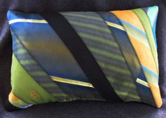 Dad's ties into a memory pillow for my brother, John