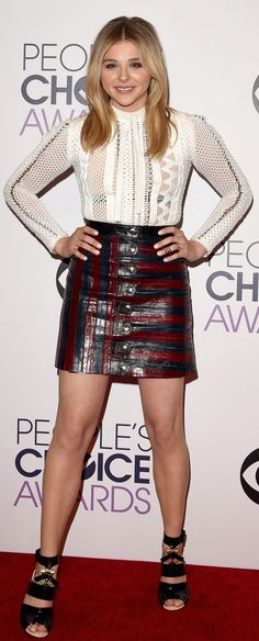 Chloe Grace Moretz in Louis Vuitton - Best of Red Carpet Gowns - Photos Ellen Degeneres, Beautiful Celebrities, Beautiful Actresses, Sils Maria, Chloë Grace Moretz, Red Carpet Gowns, Nice Dresses, Short Dresses, Celebrity Style