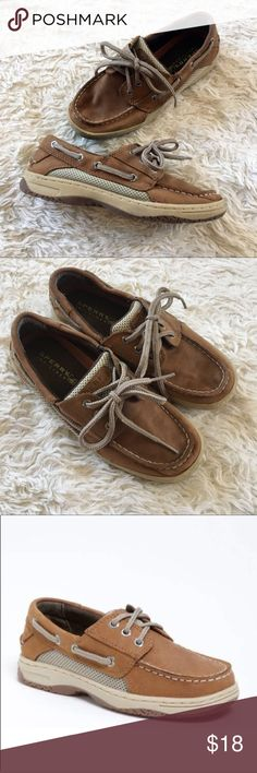 """SPERRY Boys Billfish Boat Shoes """"Billfish"""" by Sperry Top-Sider boat shoes. Genuine leather upper. Minor signs of wear; but overall great condition. ✨OFFERS WELCOME✨ Sperry Shoes"""