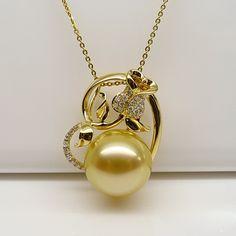 rose south sea pearl pendant