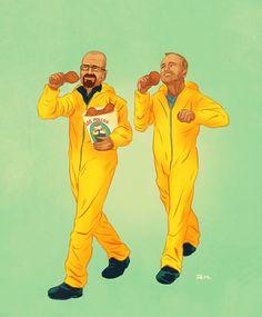 Breaking Bad: Walter White & Jesse Pinkman in Yellow IdeaFixa » A cor da cultura pop