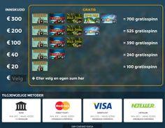 Casino Saga tilbyr sine spillere en mengde gratisspinn og her kan du lese om det og finne all informasjon du trenger angående betalingsmetoder og hvordan du kan skaffe deg dine frie runder. http://www.norskcasino.com/casino-saga/