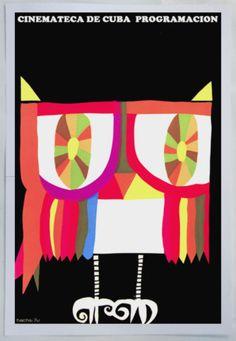 "Cuban movie Poster""LECHUZA.Owl.Buho""Rainbow colors.Colorful Art.Home Decor | eBay"