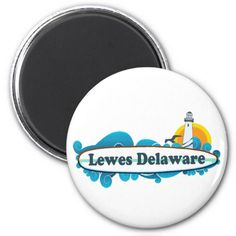 "Lewes Beach ""Surf"" Design. Fridge Magnet"