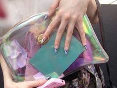 holographic handbag clutch