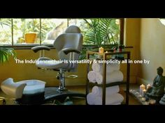 Belava's no-plumbing Indulgence Chair for beauty services - YouTube