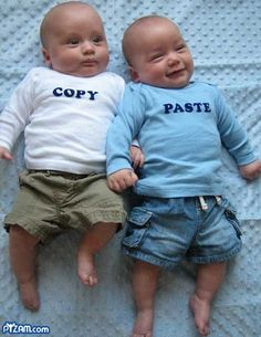 My sense of humor. But not just being able to laugh, but the things that make me laugh. My sense of humor covers the entire spectrum. Cute Twins, Cute Babies, Funny Twins, Funny Babies, Funny Girls, Chubby Babies, Little People, Little Ones, Baby Pictures