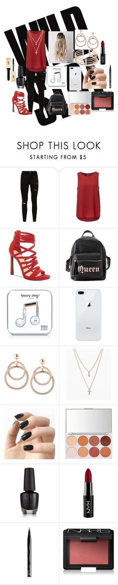 """""""First day of senior year"""" by jensencaitlin0322 on Polyvore featuring Jessica Simpson, Charlotte Russe, Happy Plugs, LOFT, Incoco, NYX, NARS Cosmetics and Yves Saint Laurent"""