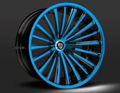 Custom - Blue and Black finish.