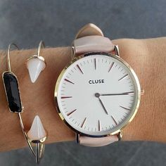 Soft pink. Always a good choice #CLUSE #watch #fashion