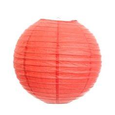 Amazon.com: Koyal 8-Inch Paper Lantern, Coral, Set of 6: Home & Kitchen